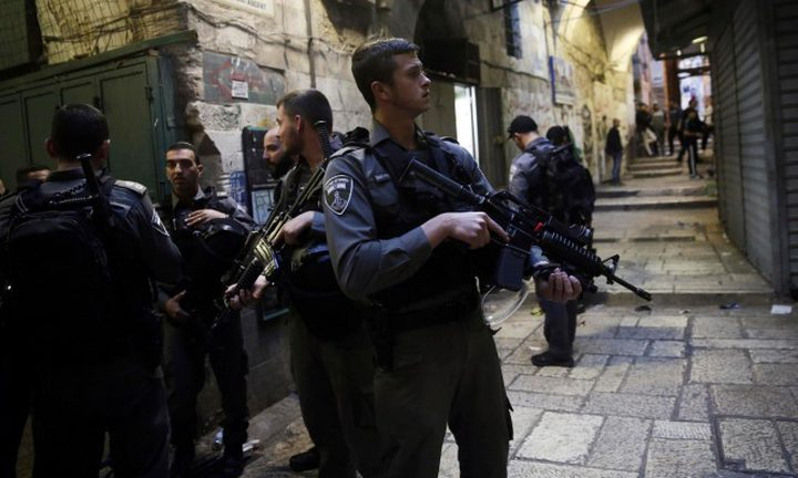 انتشار مكثف لقوات الاحتلال بالقدس المحتلة