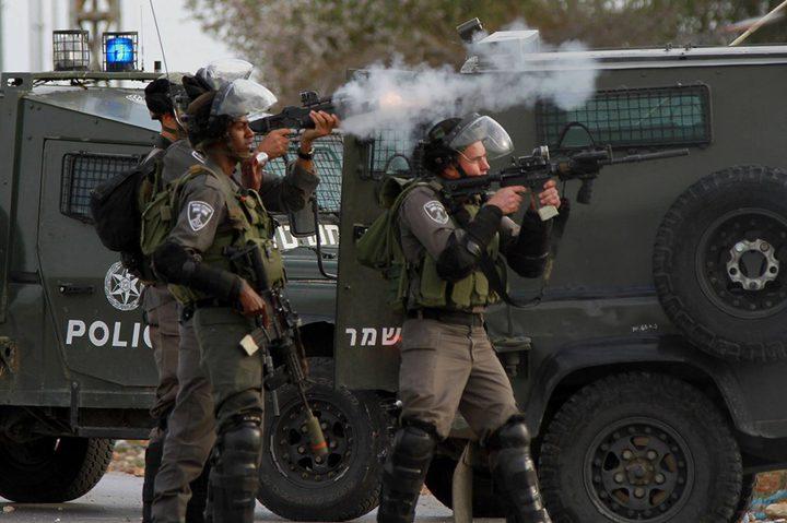 إصابات عقب قمع الاحتلال مسيرة سلمية شرق نابلس