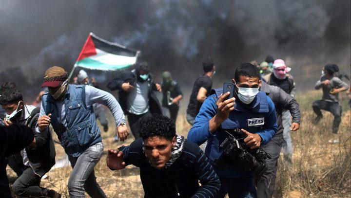 غزة : مركز الميزان يستنكر استهداف المشاركين في مسيرات العودة