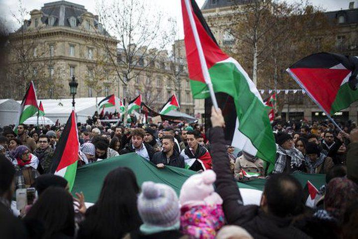 الفرنسيون يتظاهرون في باريس لأجل القدس