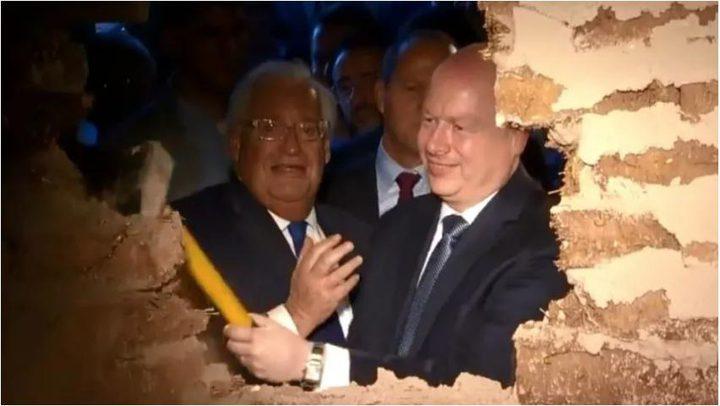 فريدمان وغرينبلات يشاركان في افتتاح نفق جنوب المسجد الأقصى