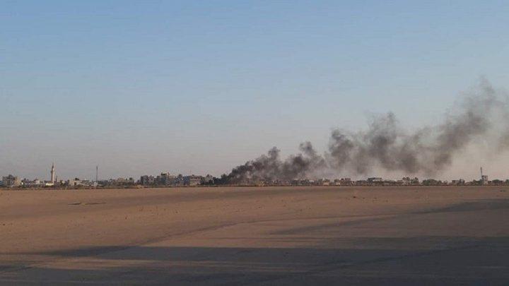 """""""الجيش الليبي"""" يسقط طائرة تابعة لحكومة الوفاق"""