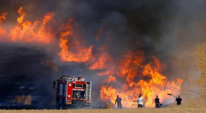وسائل اعلام عبرية تزعم اندلاع حريق في غلاف غزة