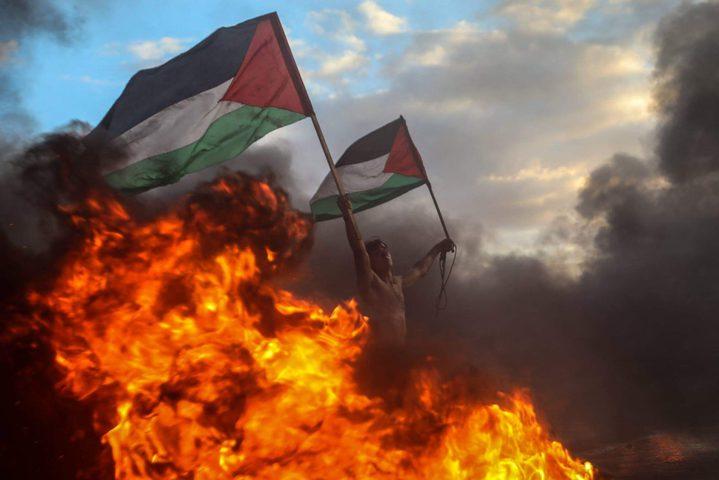 اصابات بالرصاص والاختناق جراء استهداف الاحتلال لمسيرات العودة