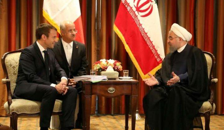 ماكرون:اتفقت مع روحاني على سبل الخروج من أزمة الاتفاق النووي