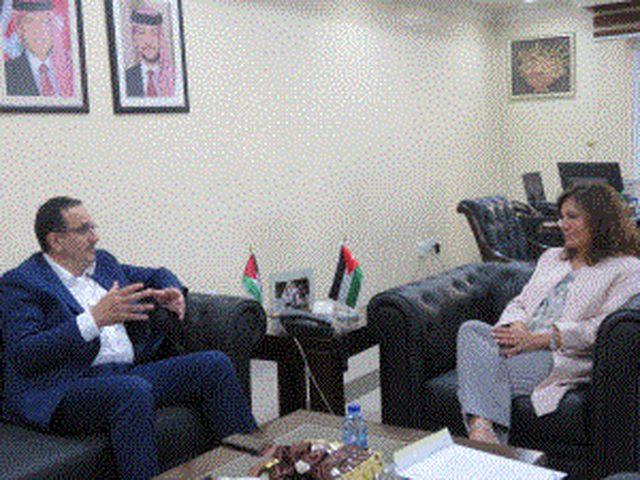 ملحم يبحث مع وزيرة الطاقة الأردنية تعزيز التعاون المشترك