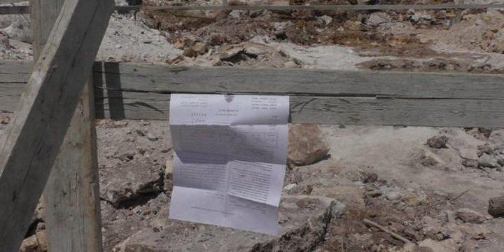 قوات الاحتلال تخطر بوقف بناء خزان مياه في الأغوار