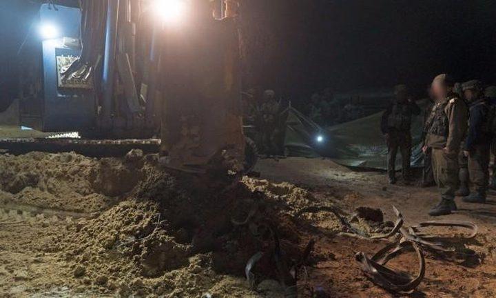 الاحتلال يزعم اكتشاف نفق للمقاومة جنوب قطاع غزة