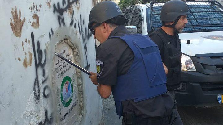 """الاحتلال يزيل النصب التذكاري للشهيد """"محمد عبيد""""من العيسوية"""
