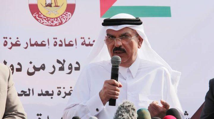 السفير العمادي ينفي تحويل أموال المنحة القطرية لمشاريع بنية تحتية