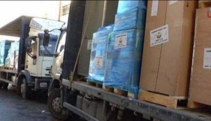 وزارة الصحة ترسل قافلة أدوية لمستودعاتها بقطاع غزة