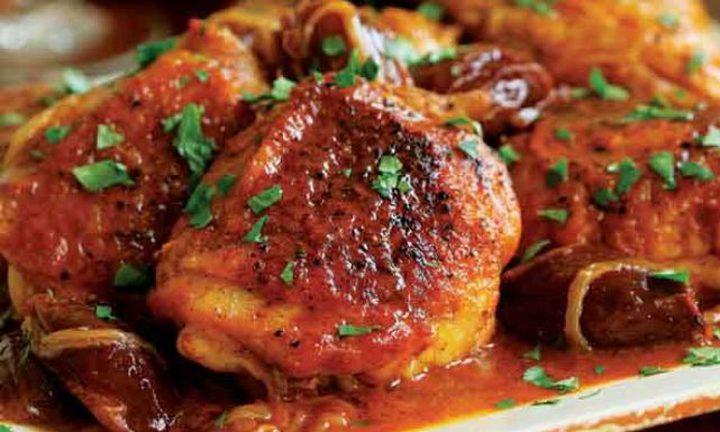 الدجاج بالصلصة المكسيكية