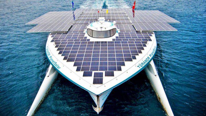 أكبر سفينة في العالم تعمل بالطاقة الشمسية