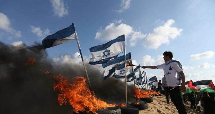 """الجمعة القادمة بعنوان """"حرق العلم""""..على حدود غزة"""