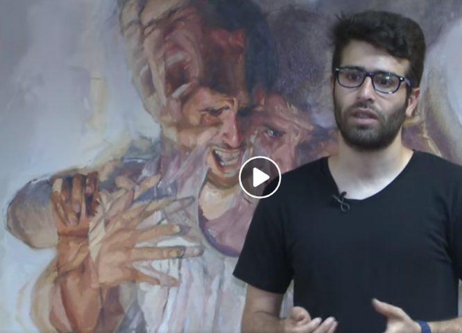 الفنان أحمد ياسين يبدع في فن النحت والرسم على جذوع شجر الصبار