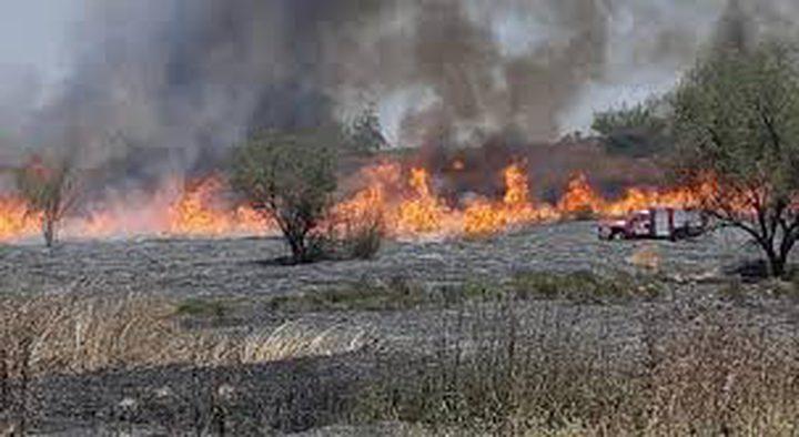 """الاحتلال يزعم اندلاع حريق في كيبوتس """"بئيري"""" بفعل البالونات"""