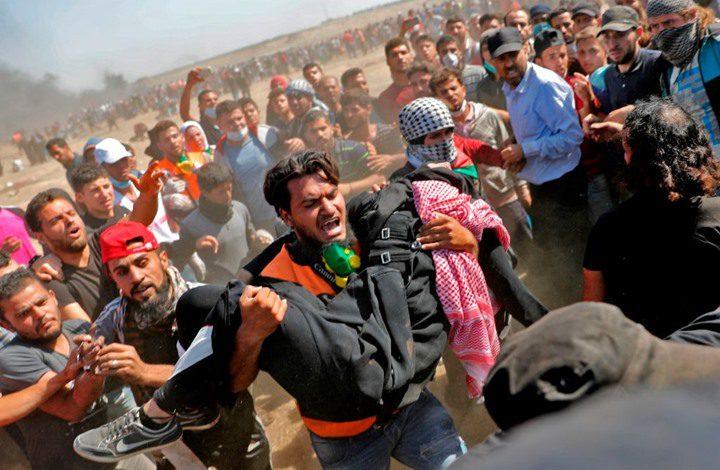 مركز حقوق الانسان: الاحتلال يتعمد قتل المتظاهرين