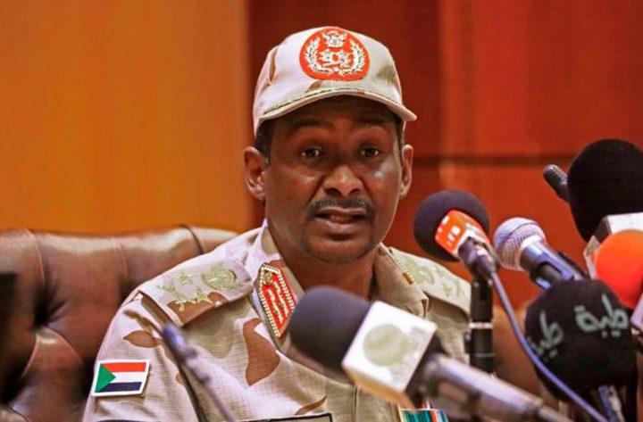 """السودان.. دقلو يؤكد الشراكة مع """"الحرية والتغيير"""""""