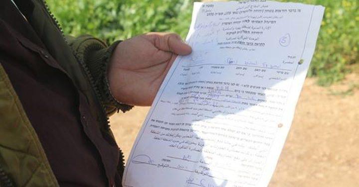 الاحتلال يسلم اخطاراً لمواطنا لهدم منزله في بيت أمر