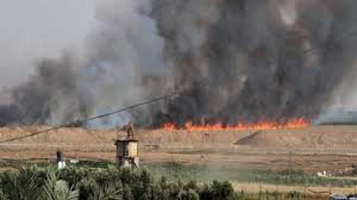 """الاحتلال يزعم اندلاع حريق في مستوطنة """"شاعر هنيغيف"""" بفعل البالونات"""