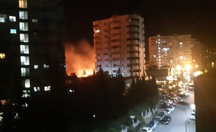 اندلاع حريق ضخم في العاصمة السورية دمشق