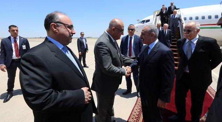 اشتية يصل العراق في زيارة رسمية على رأس وفد وزاري
