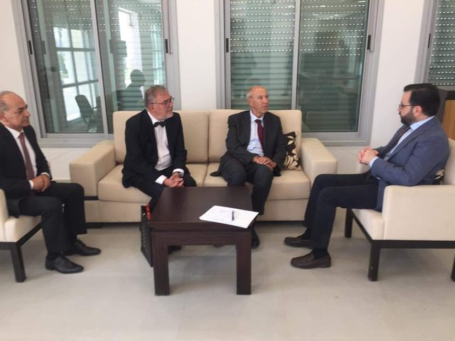 بسيسو يبحث مع رئيس منظمة الملكية الفكرية سبل تعزيز التعاون