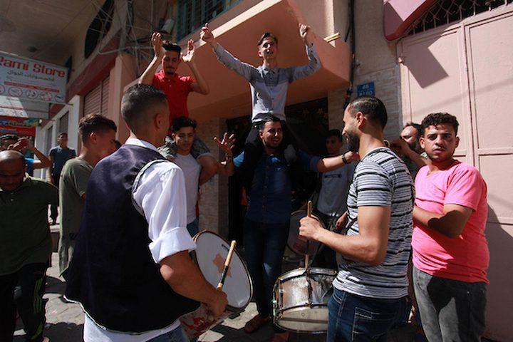 المواطنون في غزة يحتفلون هذا اليوم بنجاح طلاب الثانوية العامة 2019، ومظاهر الفرح تنتشر في كثير من الشوارع والبيوت ,