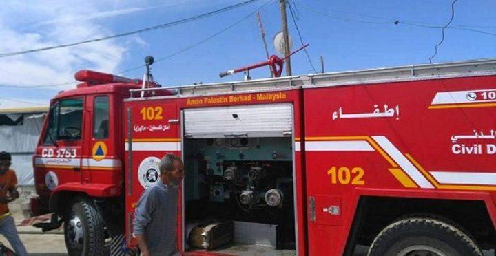 الدفاع المدني يسيطر على عدة حرائق في مدينة الخليل