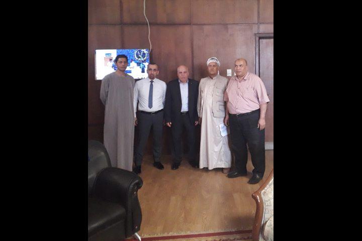 وفد من وزارة الصحة الفلسطينية يصل معهد الكبد القومي بشبين الكوم