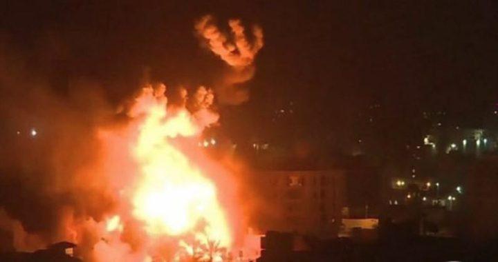 إحراق قاعدة إسرائيلية بالخليل