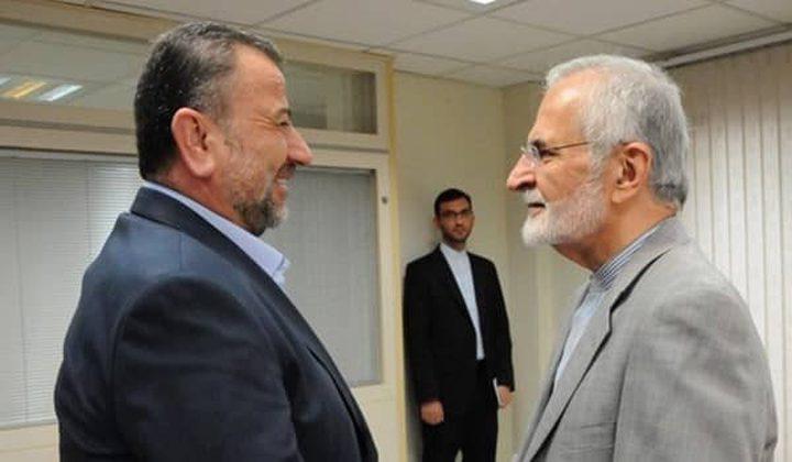 وفد حماس برئاسة العاروري يلتقي خرازي في طهران