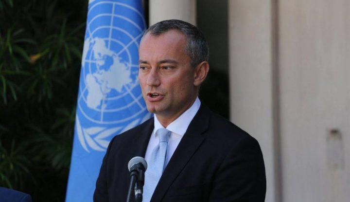 ملادينوف يطالب حكومة الاحتلال بوقف سياسة تدمير المباني السكنية