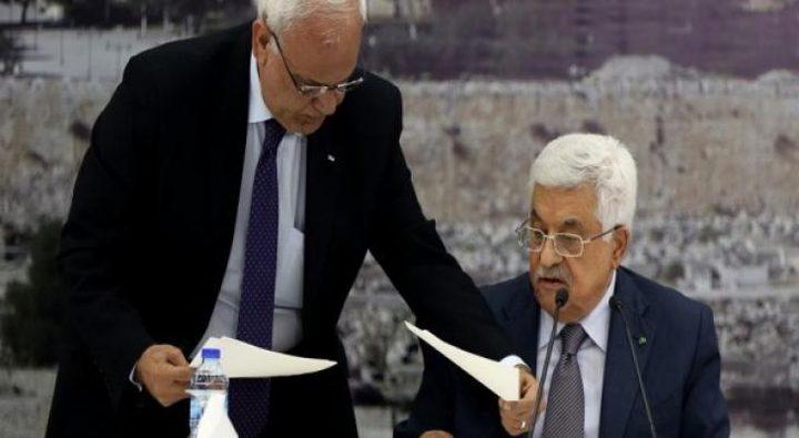 عريقات: القيادة تقرر وضع آليات لإلغاء كافة الاتفاقيات مع إسرائيل