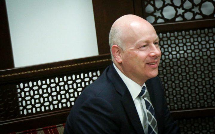 """غرينبلات: الفلسطينيون لديهم طموح و""""ليس حق"""""""