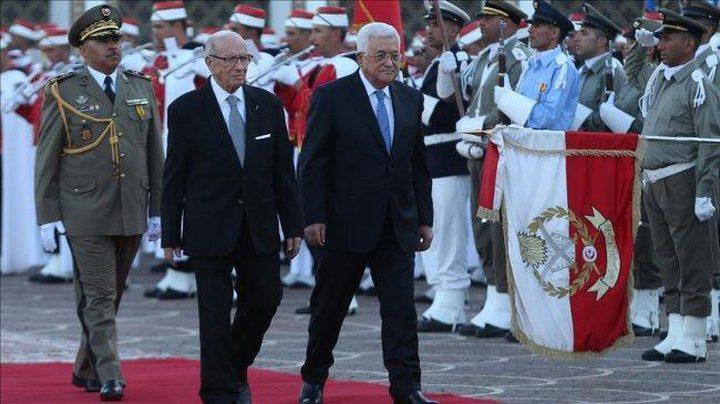 الرئيس عباس يعلن الحداد العام ثلاثة أيام لوفاة الرئيس التونسي