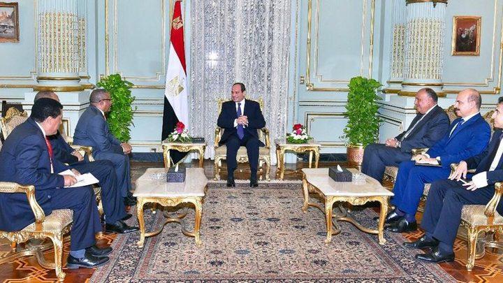 الرئيس المصري يناقش تطورات سد النهضة الإثيوبي