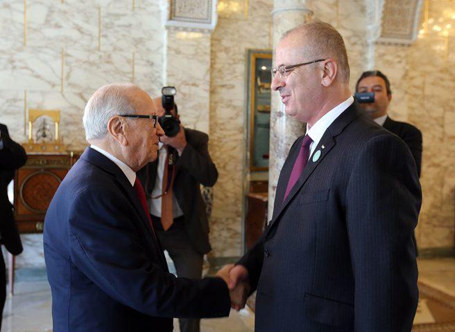 الحمد الله يعزي الشعبين الفلسطيني والتونسي بوفاة الرئيس السبسي