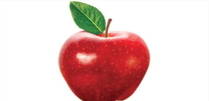 تفاحة واحدة تحتوي على 100 مليون نوع بكتيريا