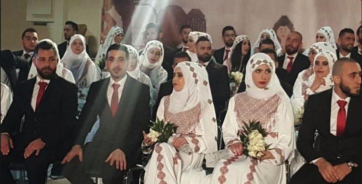 عرس جماعي فلسطيني سوري يضم (90) عريسًا في دمشق