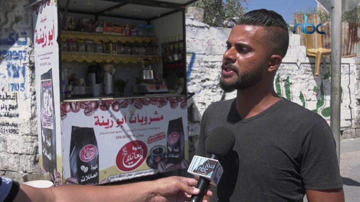 عربة المشروبات الساخنة مشروع شاب من غزة للهروب من البطالة