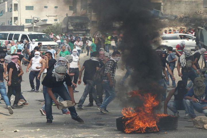 مواجهات مع الاحتلال في بلدة سبسطية