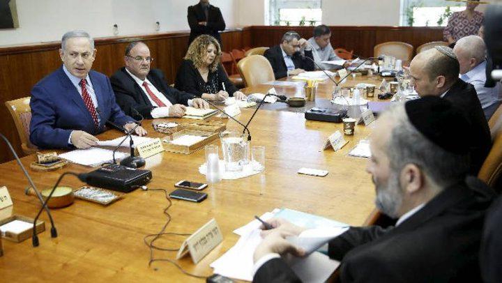 اجتماع غير اعتيادي لكابنيت الاحتلال غدا