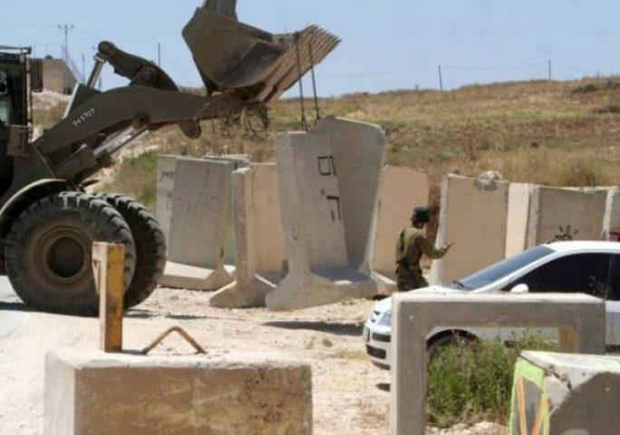 الاحتلال يعاود فصل مناطق غرب رام الله عن المدينة
