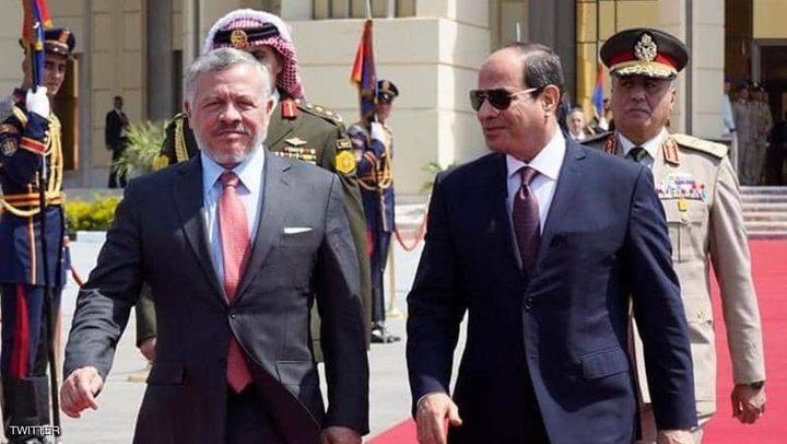 الرئيس المصري يبحث التطورات الإقليمية مع العاهل الأردني