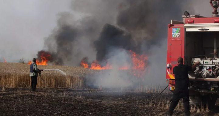 الاحتلال يزعُم اندلاع حريق في احدى مستوطنات غلاف غزة