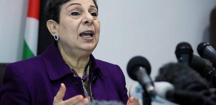 عشراوي تودع ممثل الاتحاد الأوروبي لمناسبة انتهاء مهامه في فلسطين