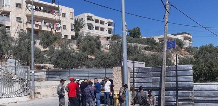 الاحتلال يصادر قطعة أرض جنوب القدس المحتلة