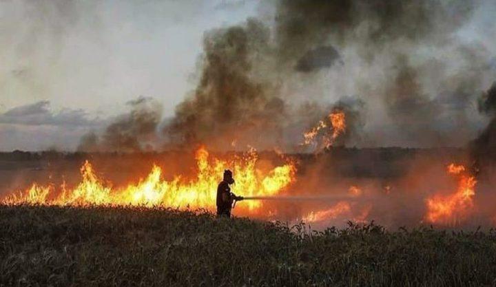 الاحتلال يزعم اندلاع حرائق بمستوطنات غلاف غزة