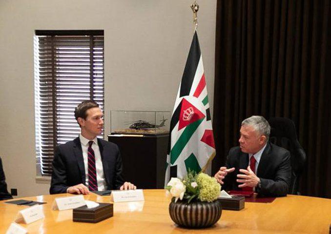 العاهل الأردني يبحث عملية السلام مع كوشنر في عمّان